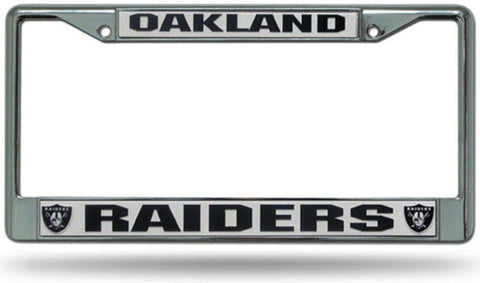 Chrome License Plate Frame - Oakland Raiders - Peazz.com