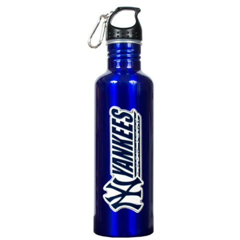Stainless Steel Water Bottle - New York Yankees Blue - Peazz.com