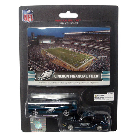Ford Mustang And Dodge Charger 1:64 Scale Diecast Cars - Philadelphia Eagles - Peazz.com