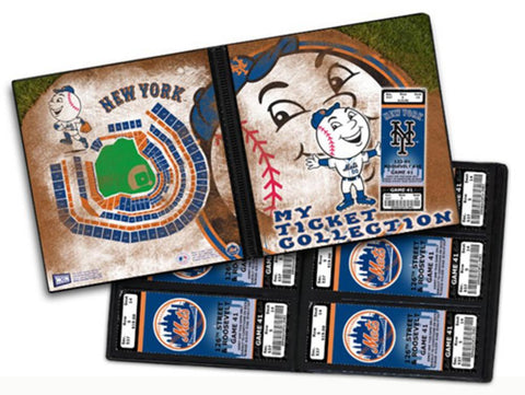 Ticket Album MLB - New York Mets Mascot (Holds 96 Tickets) - Peazz.com
