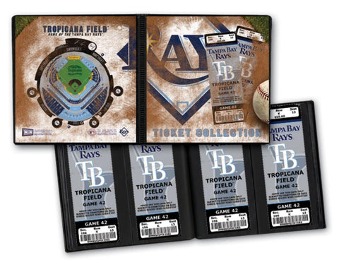 Ticket Album MLB - Tampa Bay Rays (Holds 64 Tickets) - Peazz.com