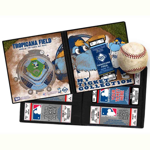 Ticket Album MLB - Tampa Bay Rays Mascot (Holds 96 Tickets) - Peazz.com