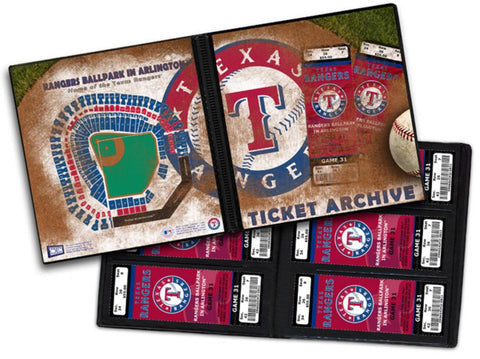 Ticket Album MLB - Texas Rangers (Holds 96 Tickets) - Peazz.com
