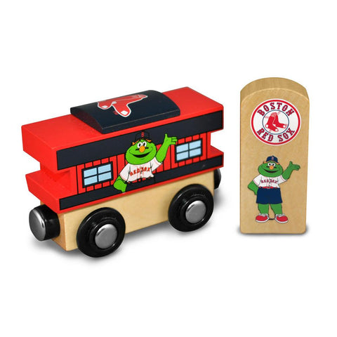 All Star Express MLB Wood Train - Caboose - Boston Red Sox - Peazz.com