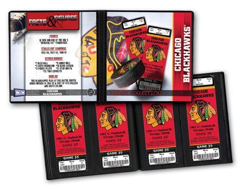 Ticket Album NHL - Chicago Blackhawks (Holds 96 Tickets) - Peazz.com