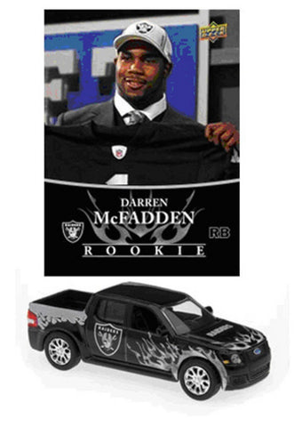 NFL Ford Svt Adrenalin Concept Diecast - Raiders With Darren Mcfadden Card - Peazz.com