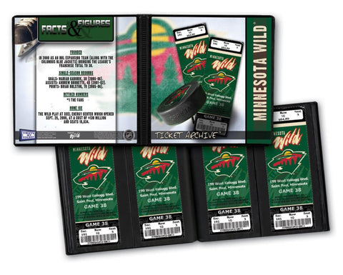 Ticket Album NHL - Minnesota Wild (Holds 96 Tickets) - Peazz.com