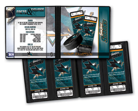 Ticket Album NHL - San Jose Sharks (Holds 96 Tickets) - Peazz.com