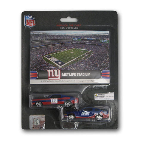 Ford Mustang And Dodge Charger 1:64 Scale Diecast Cars - New York Giants - Peazz.com