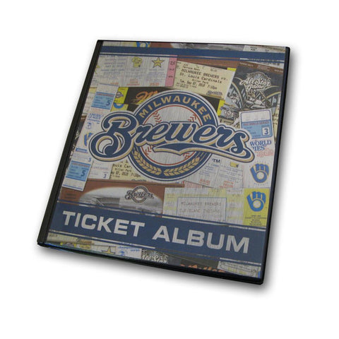 Ticket Album MLB - Milwaukee Brewers (Holds 96 Tickets) - Peazz.com