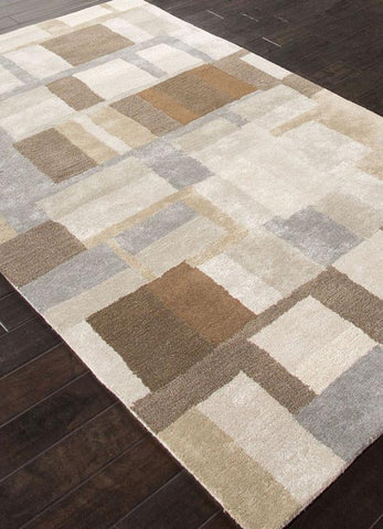 Jaipur Rugs RUG113687 Hand-Tufted Durable Wool/ Art Silk Gray/Brown Area Rug ( 9x12 ) - Peazz.com