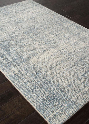 Jaipur Rugs RUG113067 Hand-Tufted Durable Wool Ivory/Blue Area Rug ( 4X6 ) - Peazz.com