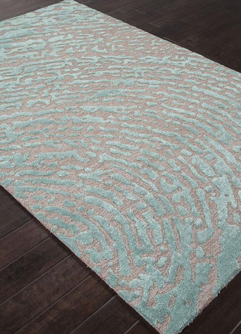 Jaipur Rugs RUG113639 Hand-Tufted Lustrous Finish Wool/ Art Silk Gray/Blue Area Rug ( 8x10 ) - Peazz.com
