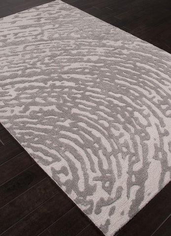 Jaipur Rugs RUG110930 Hand-Tufted Lustrous Finish Wool/ Art Silk Ivory/Gray Area Rug ( 5X8 ) - Peazz.com