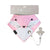 pink baby bib with dummy clip - bella the bunny