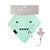 blue baby bib with dummy clip - max the monster