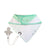 mint green baby bib with dummy clip - polly the penguin