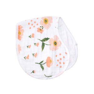 blush & poppy 2-in-1 burp cloth + bib