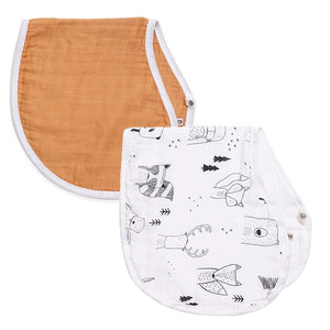 mustard & scandi 2-in-1 burp cloth + bib