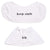 white & polar bear 2-in-1 burp cloth + bib