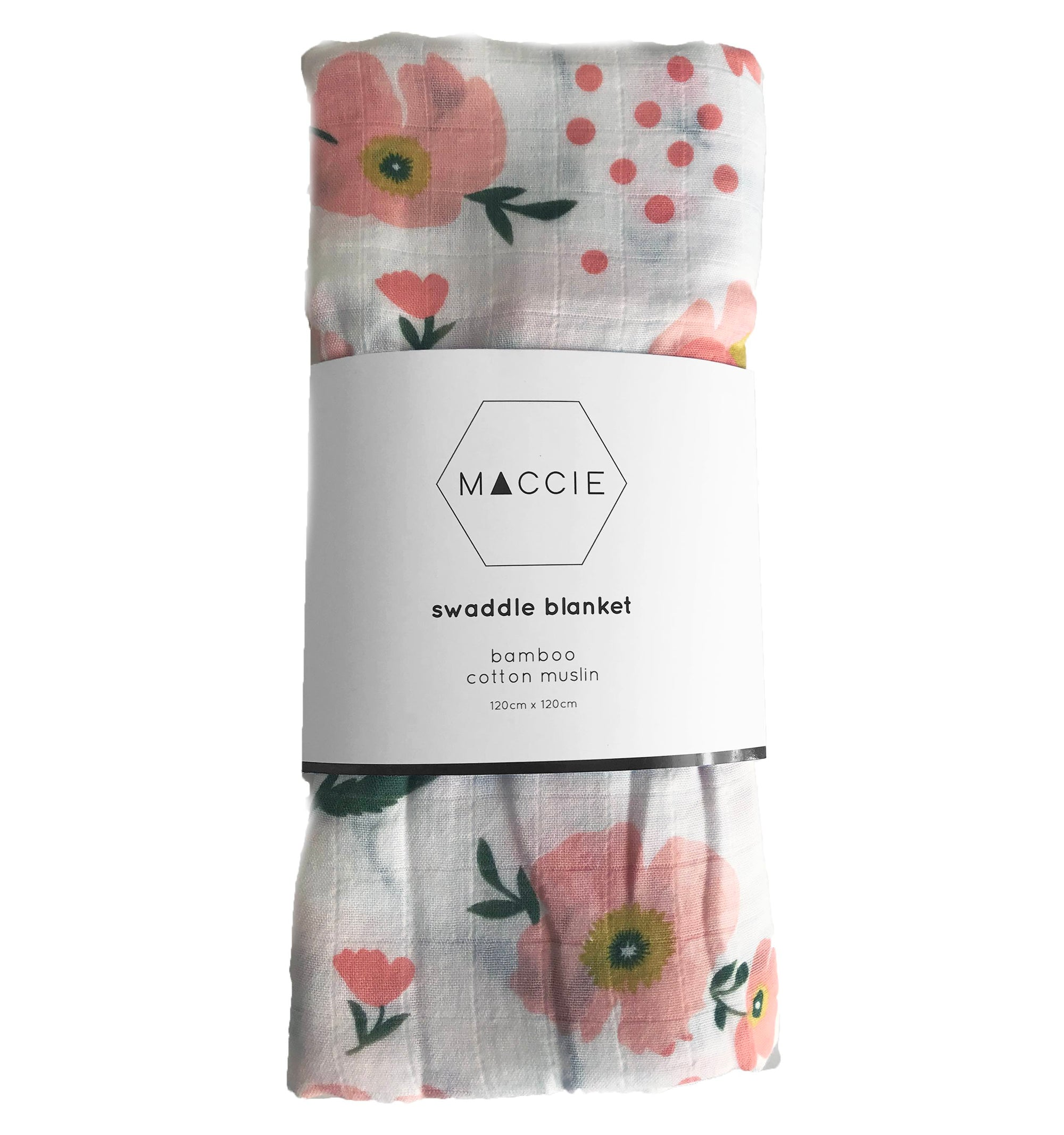 poppy flower swaddle blanket