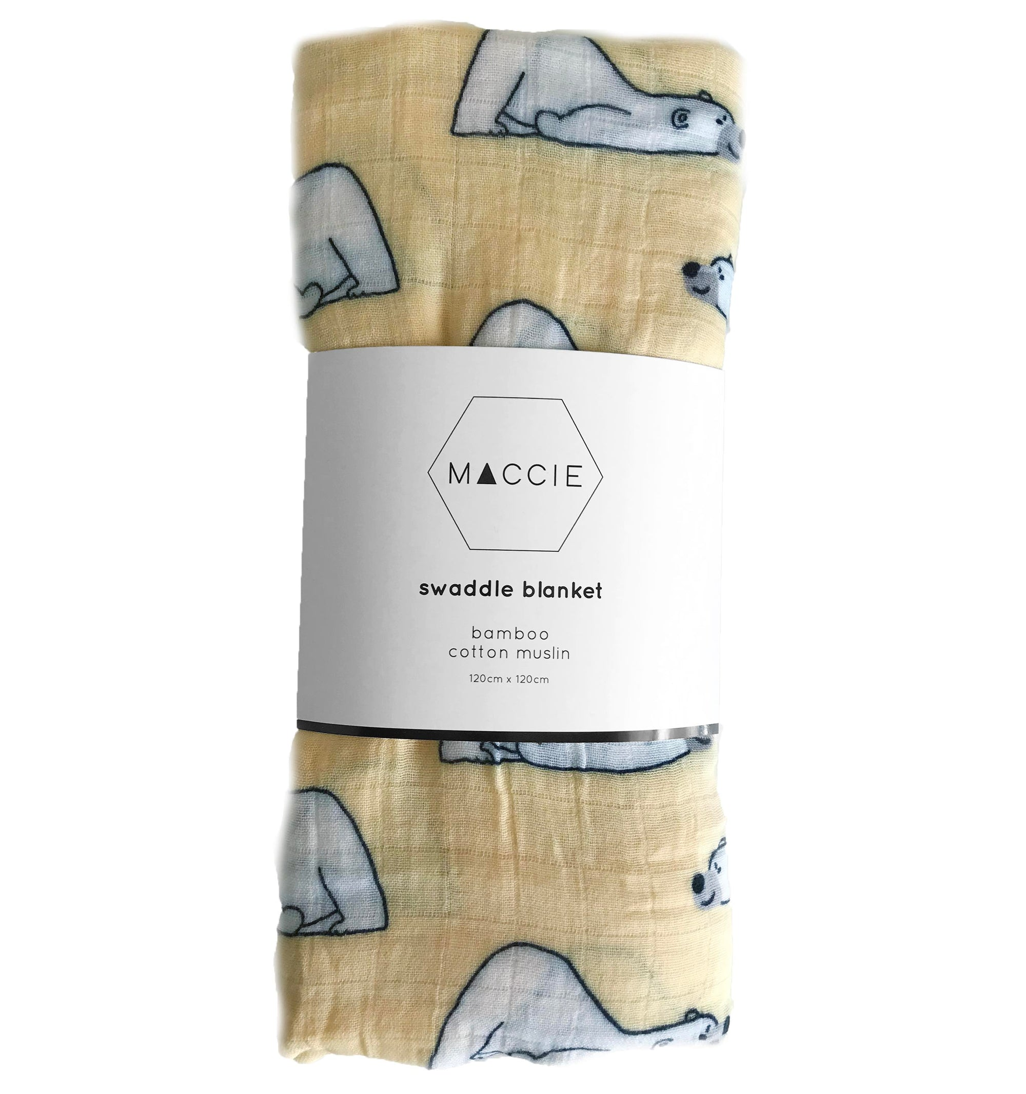 polar bear swaddle blanket