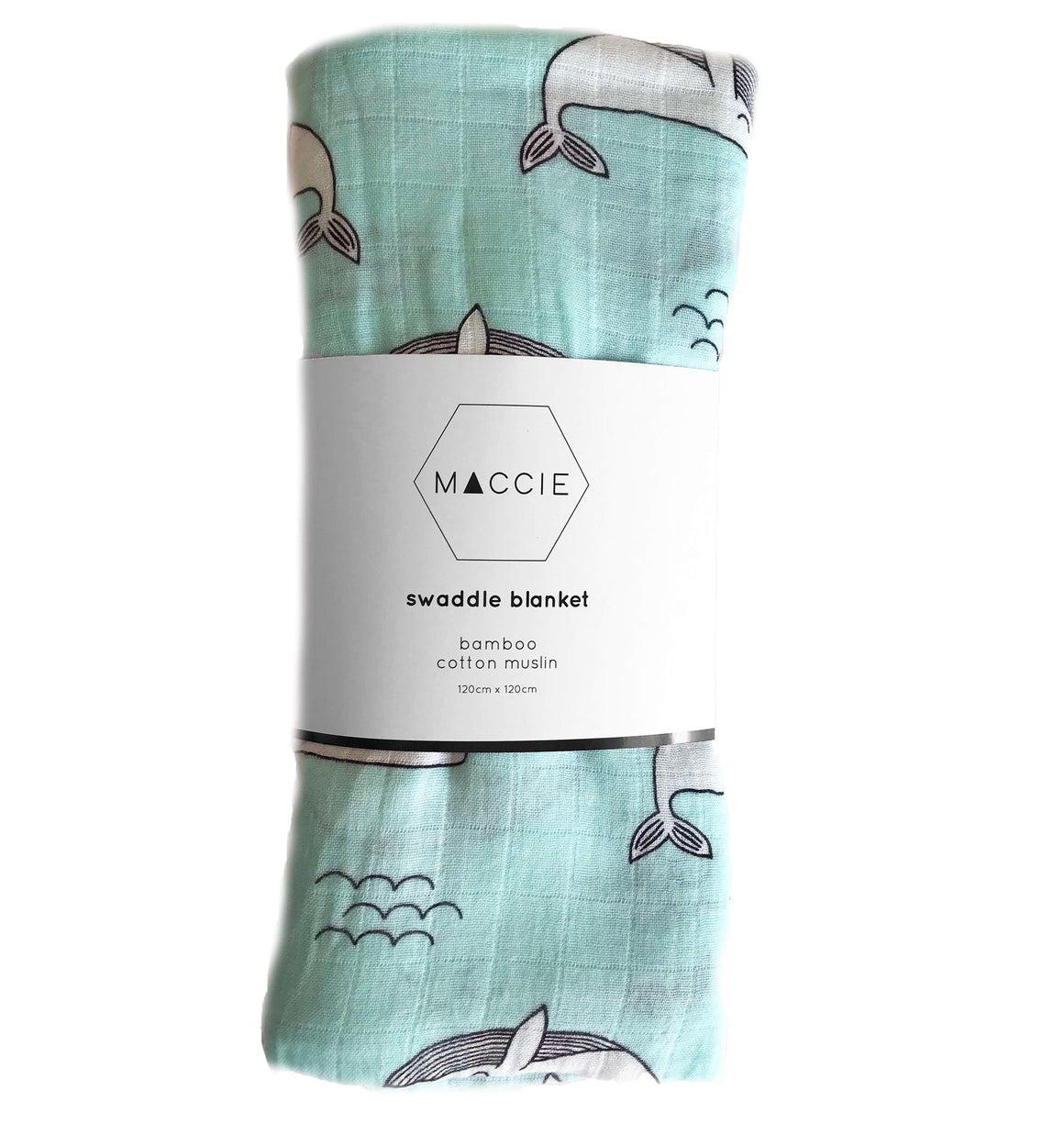 whale swaddle blanket