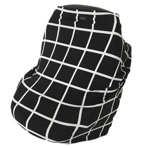 black grid multi-use stretchy cover