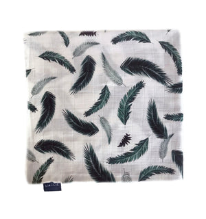 emerald feather swaddle blanket