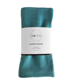 teal swaddle blanket