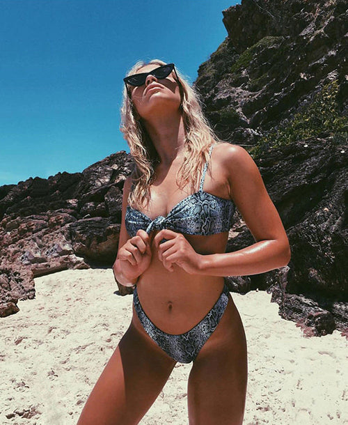 Megan Snake Print Bikini - Bikini - Dakota Collective - Dakota Collective