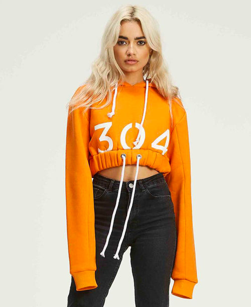 Melrose Cropped Hoodie Orange - Hoodies - 304 Clothing - Dakota Collective