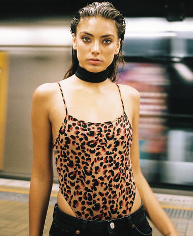 Solemo Bodysuit in Jungle Leopard - Bodysuits - Motel Rocks - Dakota Collective