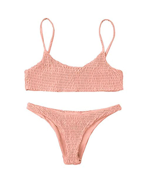 Sydney Pink Crinkle Bikini - Bikini - Dakota Collective - Dakota Collective