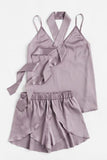 Eva Satin Cami 3-Piece Set Lilac - Nightwear - Dakota Collective - Dakota Collective