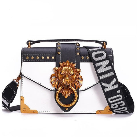 White Lion Head Crossbody Bag (Pre-Order) - Bag - Dakota Collective - Dakota Collective