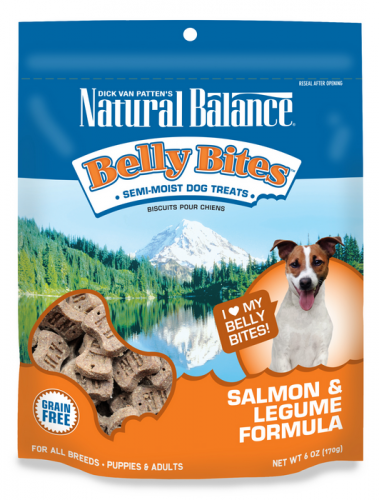 Natural Balance Belly Bites Salmon and Legume Semi-Moist Treats for Dogs