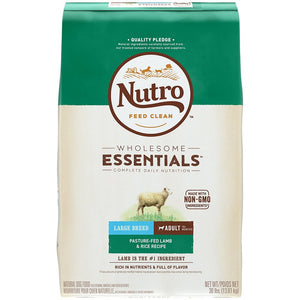 Nutro Wholesome Essentials Large Breed Adult Pasture-Fed Lamb & Rice Dry Dog Food