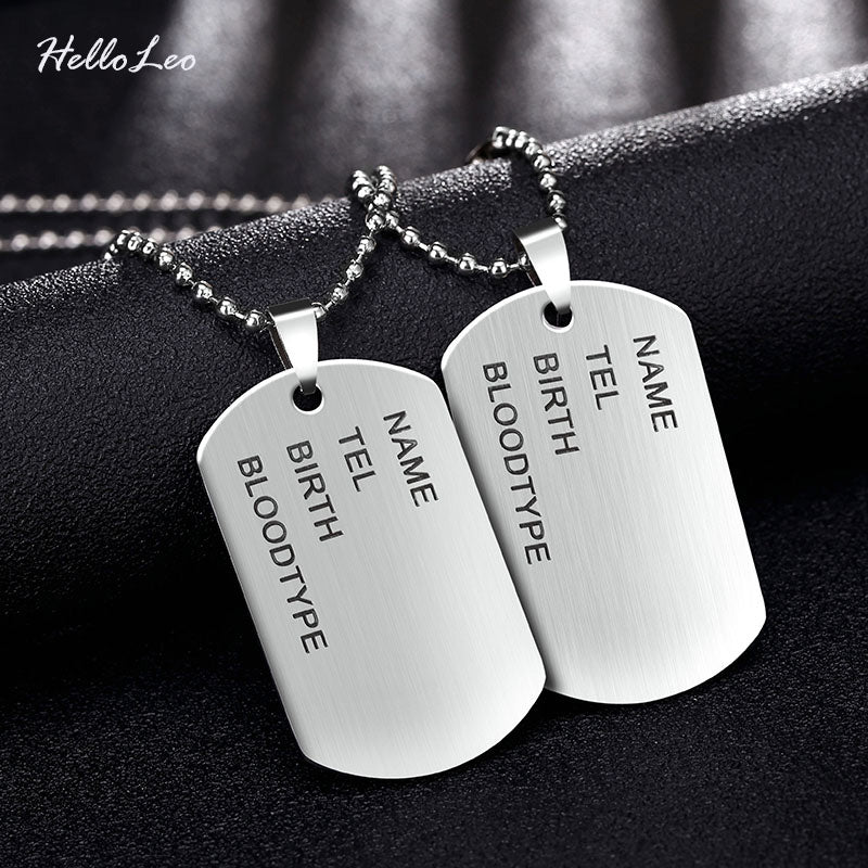Military Stainless Steel Pendant & Necklaces - 14 Styles