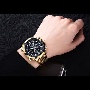 Luxury Quartz Watch With Multi Dial Display