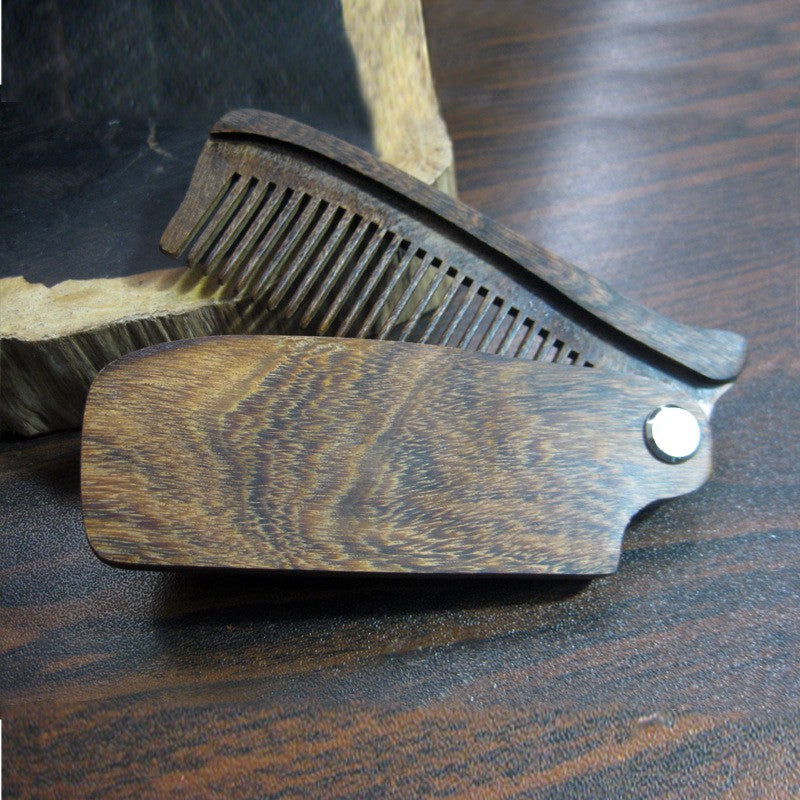 Black Sandalwood Fine Tooth Pocket Folding Comb