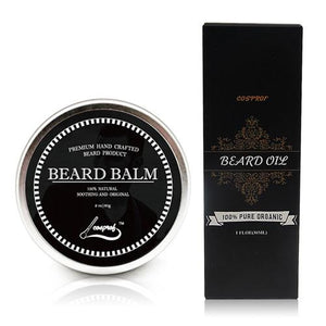 100% Organic Fast Acting Beard Oil for Beard Growth + FREE Beard Balm