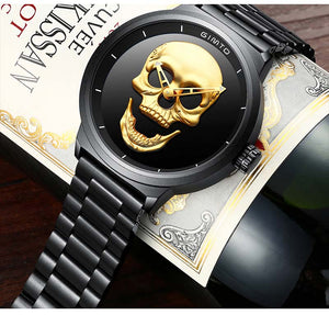Luxury 3D Skull Watch With Unique Design