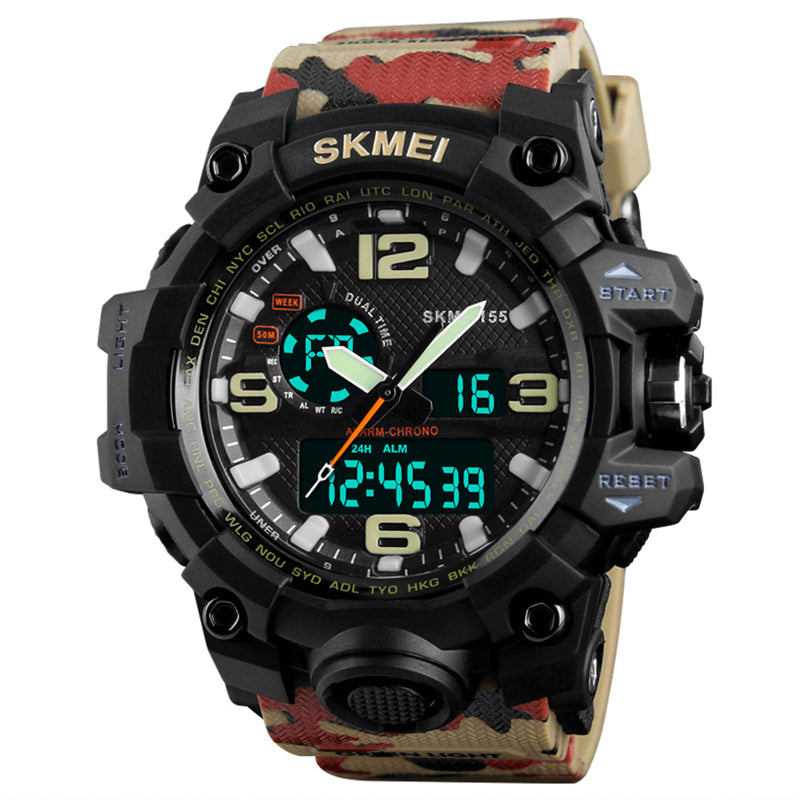 Digital Sport Watch With Dual Time Display