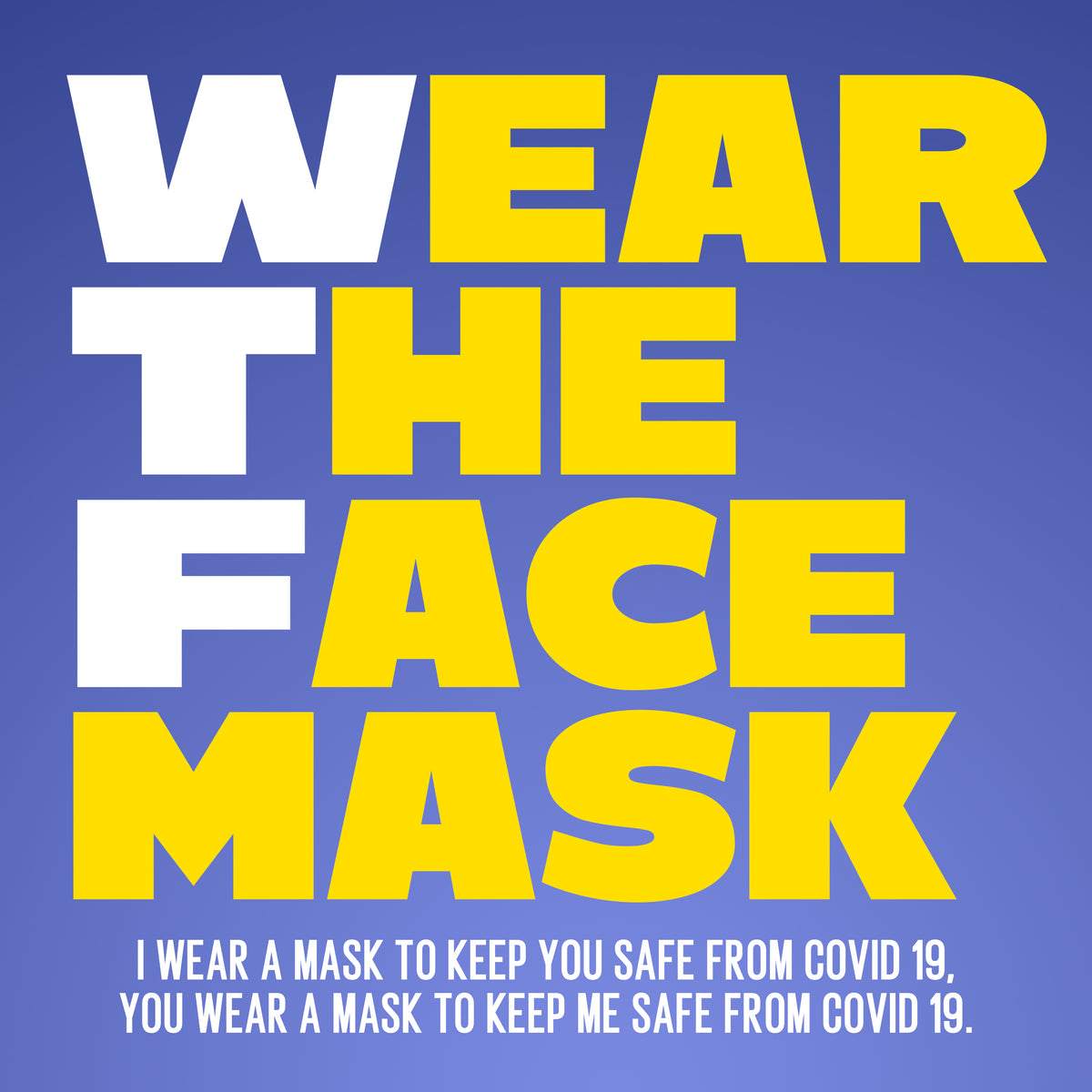 Wear The Face mask. 🚸 Protect Others in case you're infected but don't have symptoms. ❗Keep the mask on your face the entire time you're in public. 💧 Wash your hands for 20 seconds.
