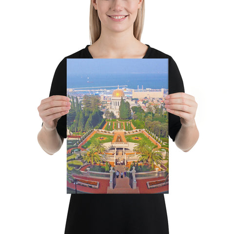 "12""x16"" Haifa, Israel - Bahá'í World Centre - Canvas print"