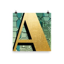 The Gilded Series | Letter A Poster