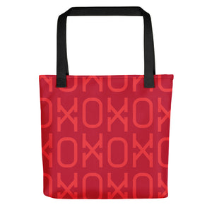 Hot Pink XO Tote Bag with zipper closure