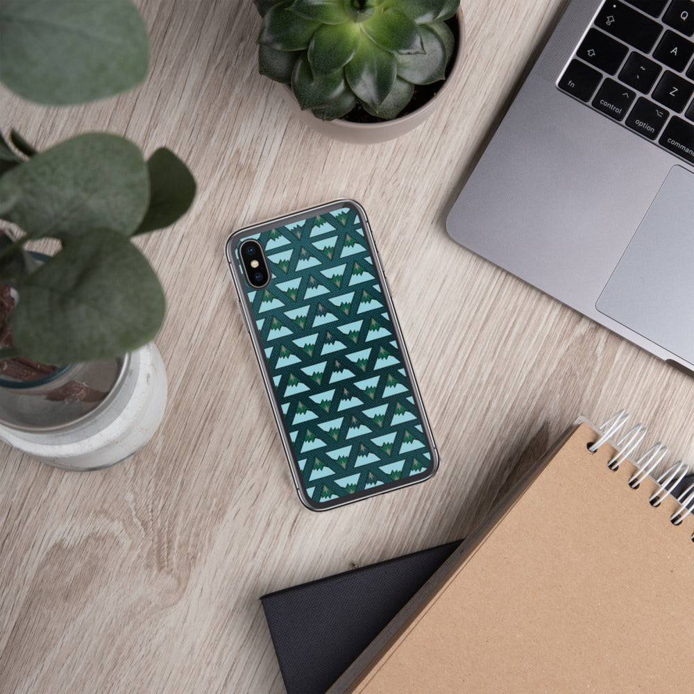 Mountain Glacier Pattern iPhone Case
