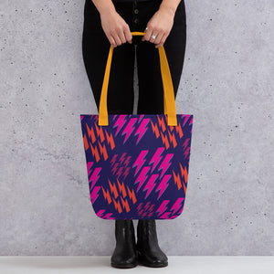 Bowie Pink Lightning Bolts - Tote bag